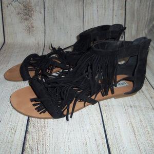 Steve Madden Fringed FAVORIT Sandals 7.5